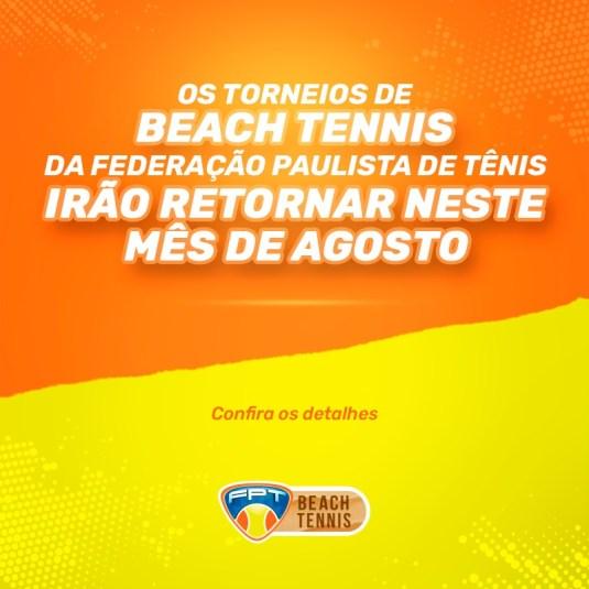 RETORNO DOS TORNEIOS DE BEACH TENNIS