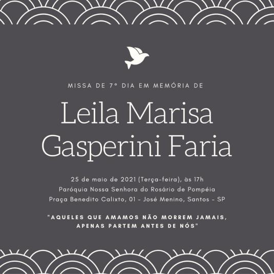 Missa Srª Leila Marisa