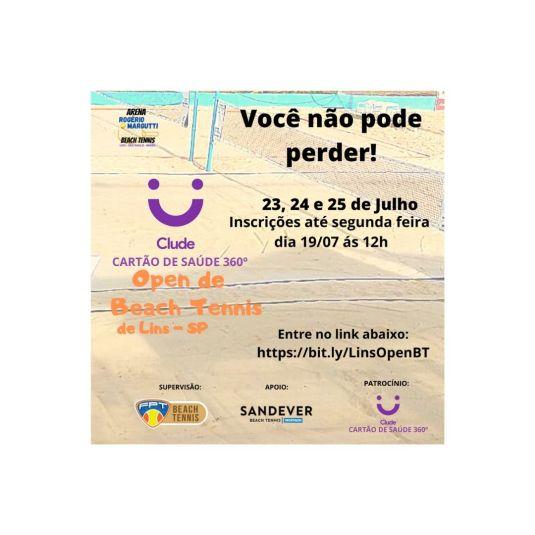 CLUDE CARTÃO DE SAÚDE 360° OPEN DE BEACH TENNIS – INFORMAÇÕES TÉCNICAS