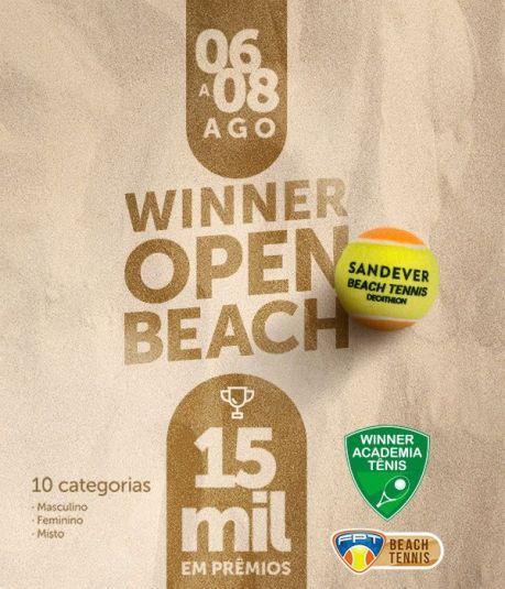 WINNER OPEN DE BEACH TENNIS – INFORMAÇÕES TÉCNICAS