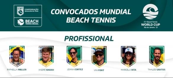 Com paulistas no time, Brasil é convocado para o Mundial em Equipes de Beach Tennis