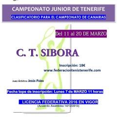 Cuadros Campeonato Júnior de Tenerife