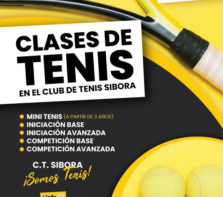 CLASES DE TENIS POR EL CT SIBORA