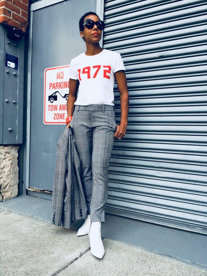 Target Womens Plaid Boyfriend Blazer - A New Day1