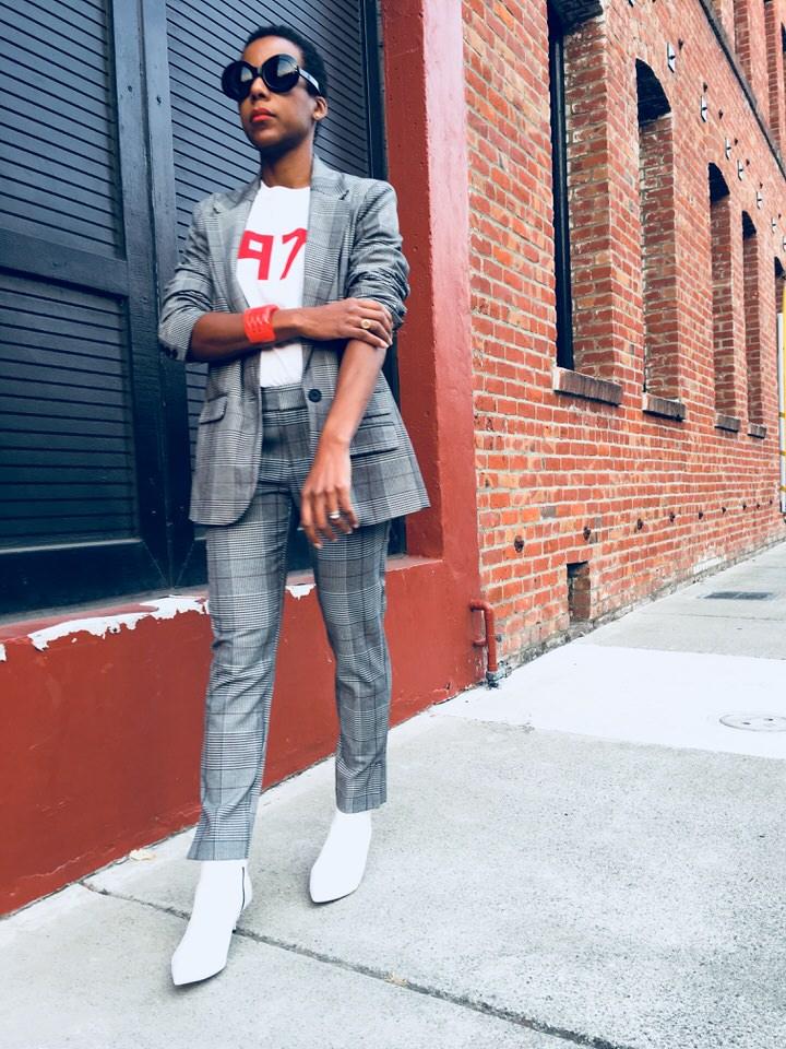 Target Womens Plaid Boyfriend Blazer - A New Day