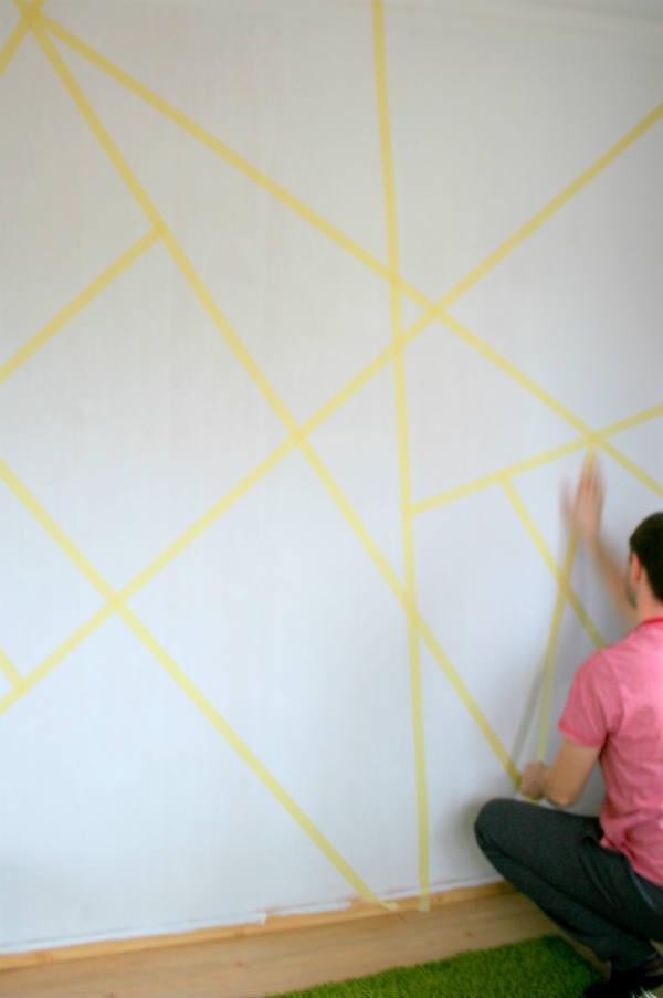 geometrical wall decor