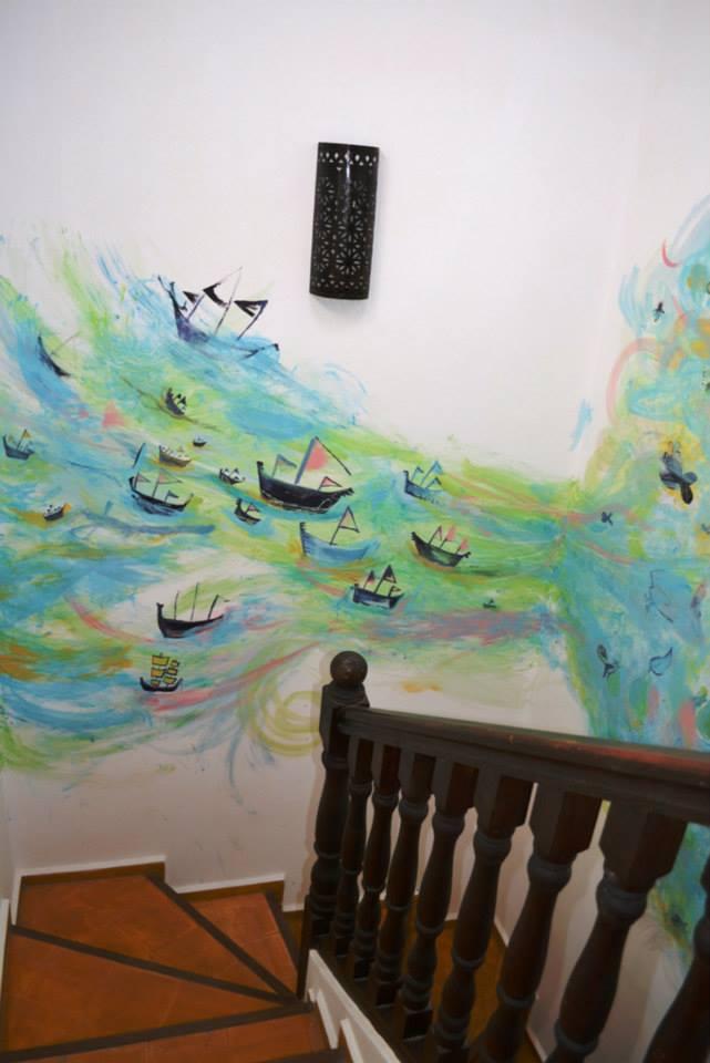 14 muilo piešinys siena