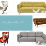 Kaip išsirinkti sofą namams