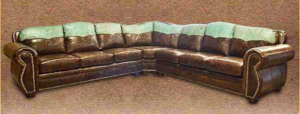 rustic cowhide sectionals free shipping