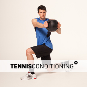 Alternating Diagonal Lunge MB Trunk Rotations