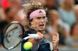Alexander Zverev of Germany in action during his men's singles second round match against Jeremy Chardy of France at the Australian Open Grand Slam tennis tournament in Melbourne, Australia, 17 January 2019. EPA-EFE/LYNN BO BO