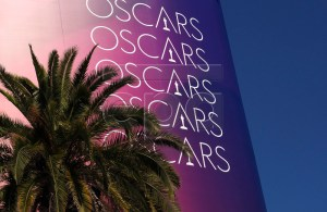 Oscars billboard outside the red carpet during preparations for the 91st annual Academy Awards in Hollywood, California, USA, 22 February 2019. The Oscars are presented for outstanding individual or collective efforts in 24 categories in filmmaking. EPA-EFE/JOHN G. MABANGLO