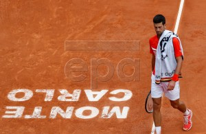 Novak Djokovic of Serbia during his second round match against Philipp Kohlschreiber of Germany at the Monte-Carlo Rolex Masters tournament in Roquebrune Cap Martin, France, 16 April 2019. EPA-EFE/SEBASTIEN NOGIER