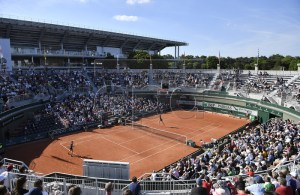 A general view of court 1 as Donna Vekic of Croatia plays Belinda Bencic of Switzerland during their women?s third round match during the French Open tennis tournament at Roland Garros in Paris, France, 31 May 2019. EPA-EFE/JULIEN DE ROSA