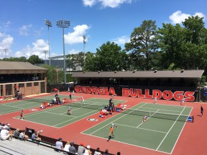 University of Georgia college tennis match