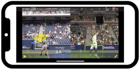 Serve technique video comparison