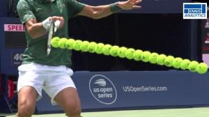 Novak Djokovic's forehand contact
