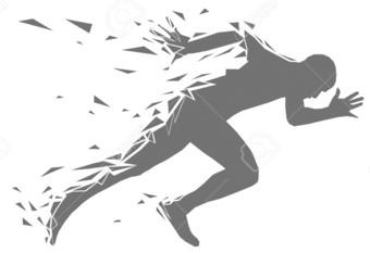 Tennis player running