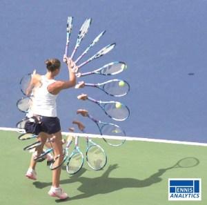 Karolina Pliskova's inside-in forehand