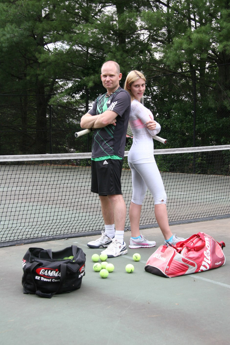 Diana Chalikov and Robert A. Walker, tennis trainers