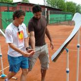 Nenad Zimonjic actively followed Mili Split Veljkovic's presentation