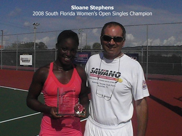 Nick Saviano and Sloane Stephens
