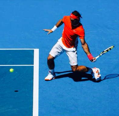Nadal, closed stance