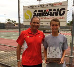 Saviano and his student
