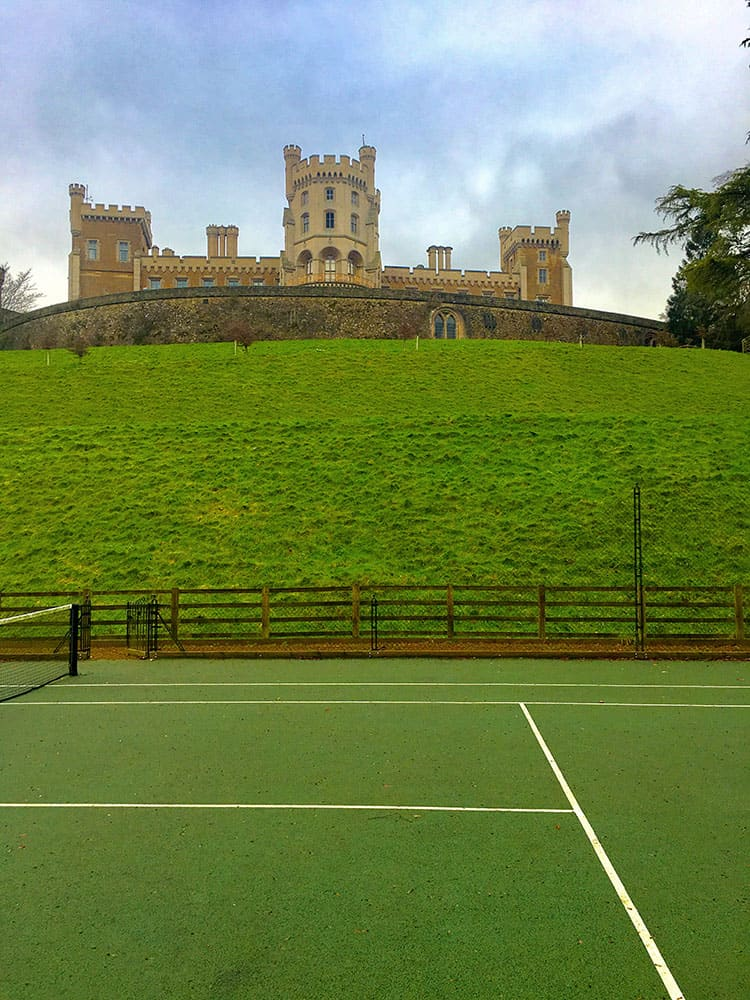 Tennis court at Belvoir Castle, built by en Tout Cas