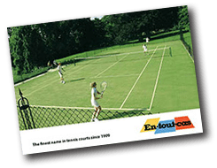 En Tout Cas's tennis court construction brochure