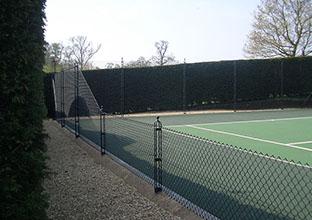 En Tout Cas's obelisk tennis court fence suports