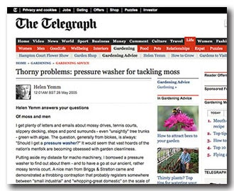 Cleaning moss from your tennis court - an article from the Daily Telegraph