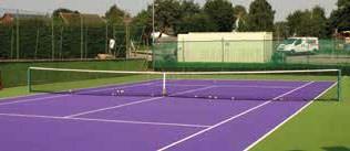 Pladek tennis court surface in purple by En Tout Cas