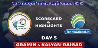 ratanbuva paril trophy 2020 day 5 highlights scorecard