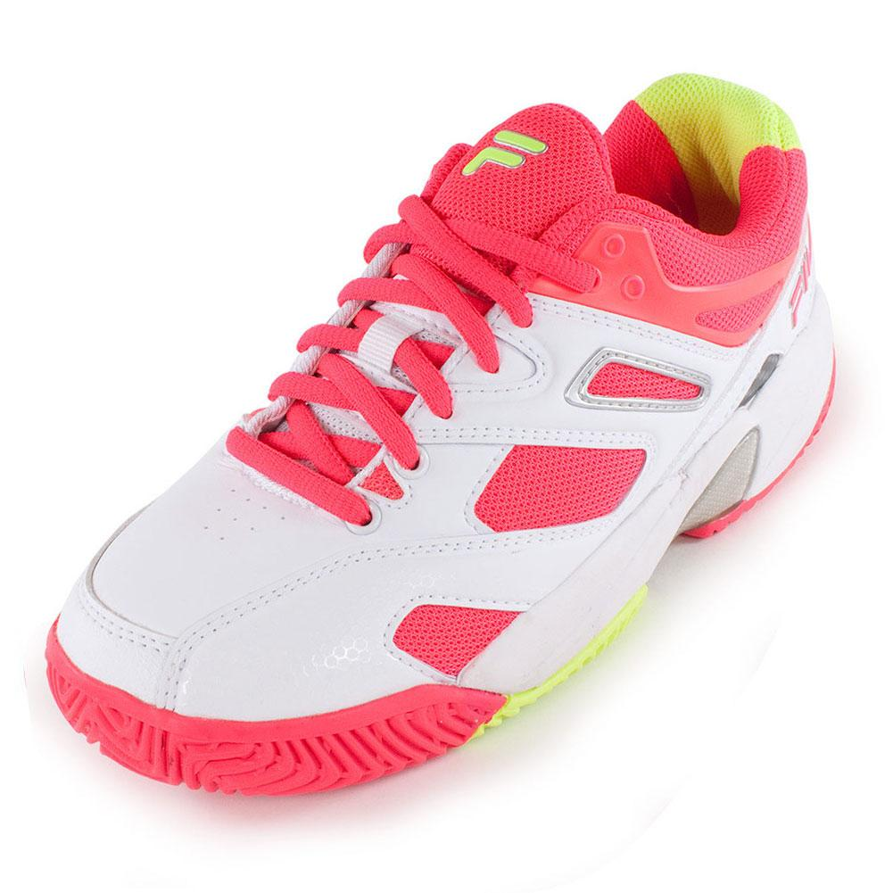 Fila Juniors Sentinel Tennis Shoes White And Diva Pink Tennis