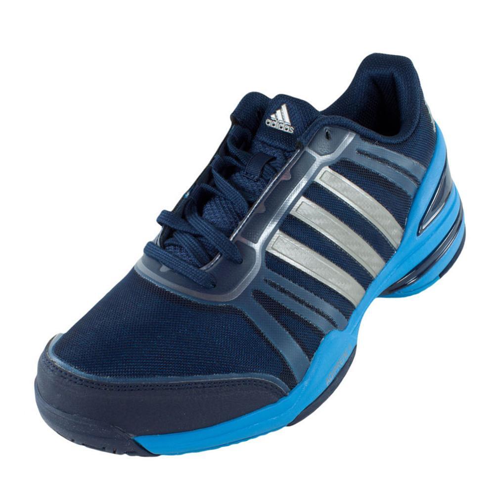 official photos f9949 ad87e Adidas Men s Cc Rally Comp Tennis Shoes Collegiate Navy And Solar Blue –  Tennis Express