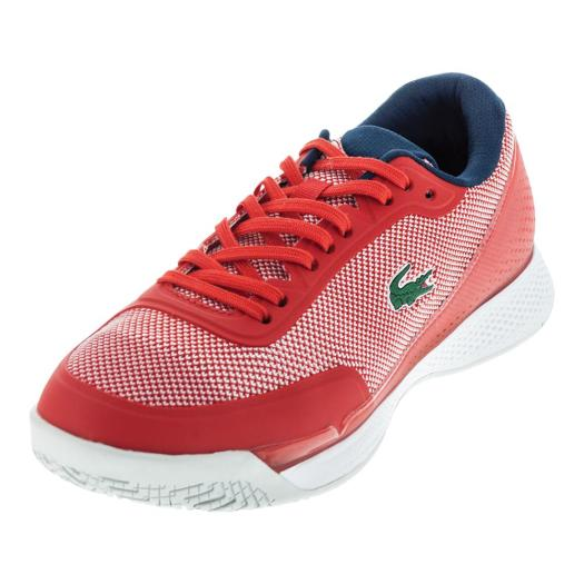 Lacoste Women's LT Pro 117 Tennis Shoes Red and Navy