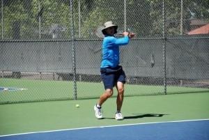tennis neutral stance forehand groundstroke