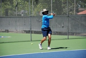 tennis neutral stance forehand groundstroke