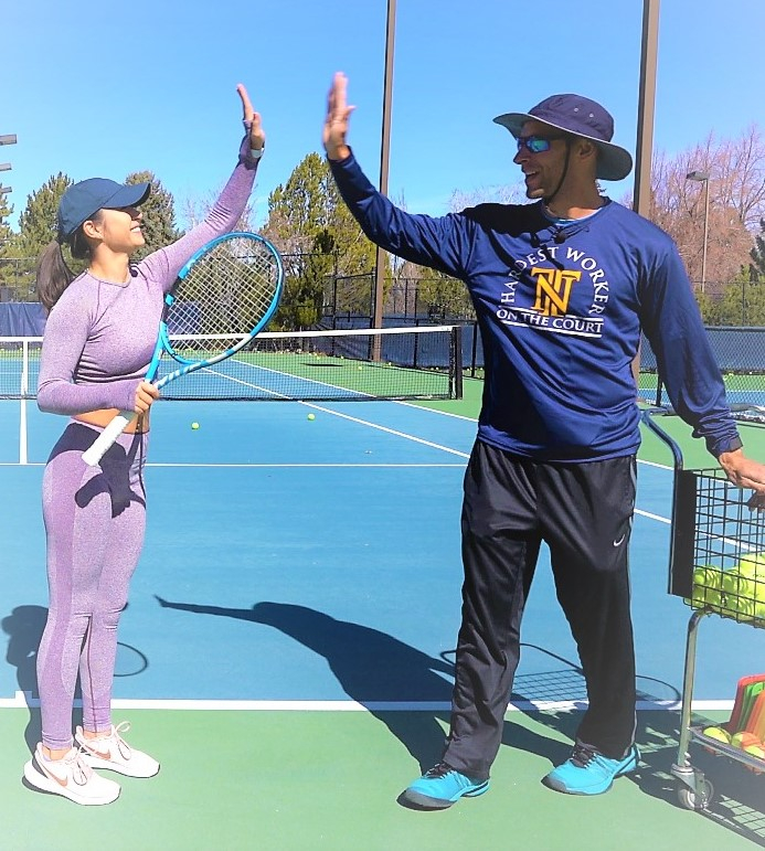 tennis lessons, private lessons, group instruction and team coaching reno nevada