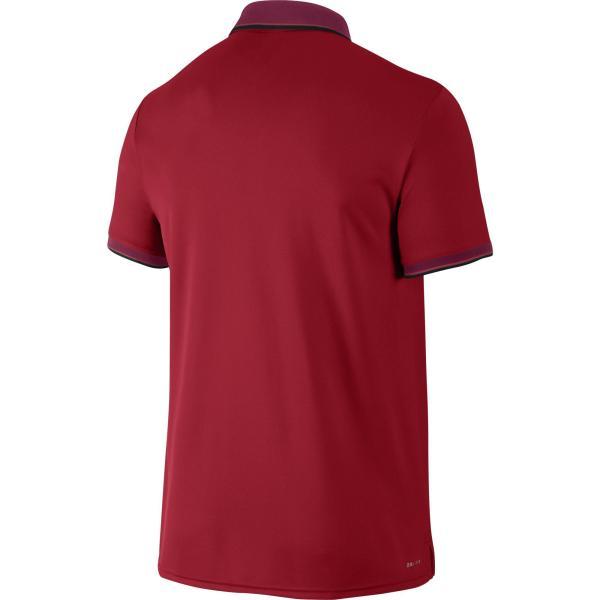 Nike Mens Court Tennis Polo - University Red - Tennisnuts.com