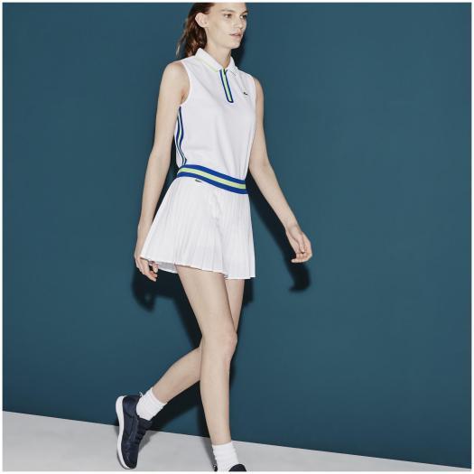 Lacoste Sport Womens Pleated Tennis Skort - White/Blue ...
