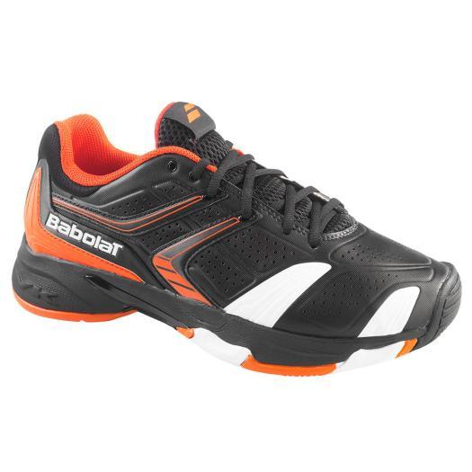 Babolat Mens Drive 3 All Court Tennis Shoes - Black/Orange ...