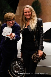 """Austin Powers"" and Caroline Wozniacki"