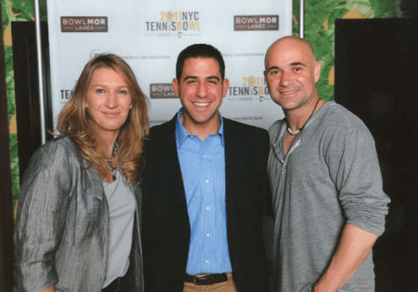 Harry Cicma with Steffi Graf and Andre Agassi