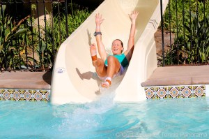 Stosur sliding in the pool