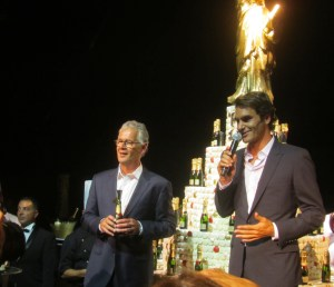 Roger Federe & Moet et Chandon