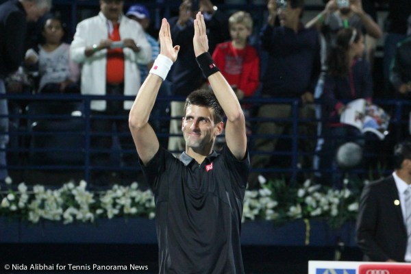 Djokovic applauds