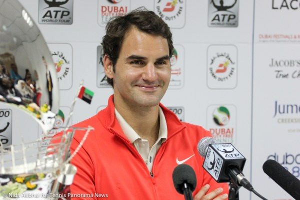 Federer in press