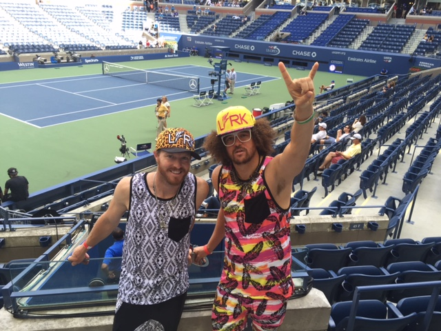 Chris Wettengel and RedFoo at US Open